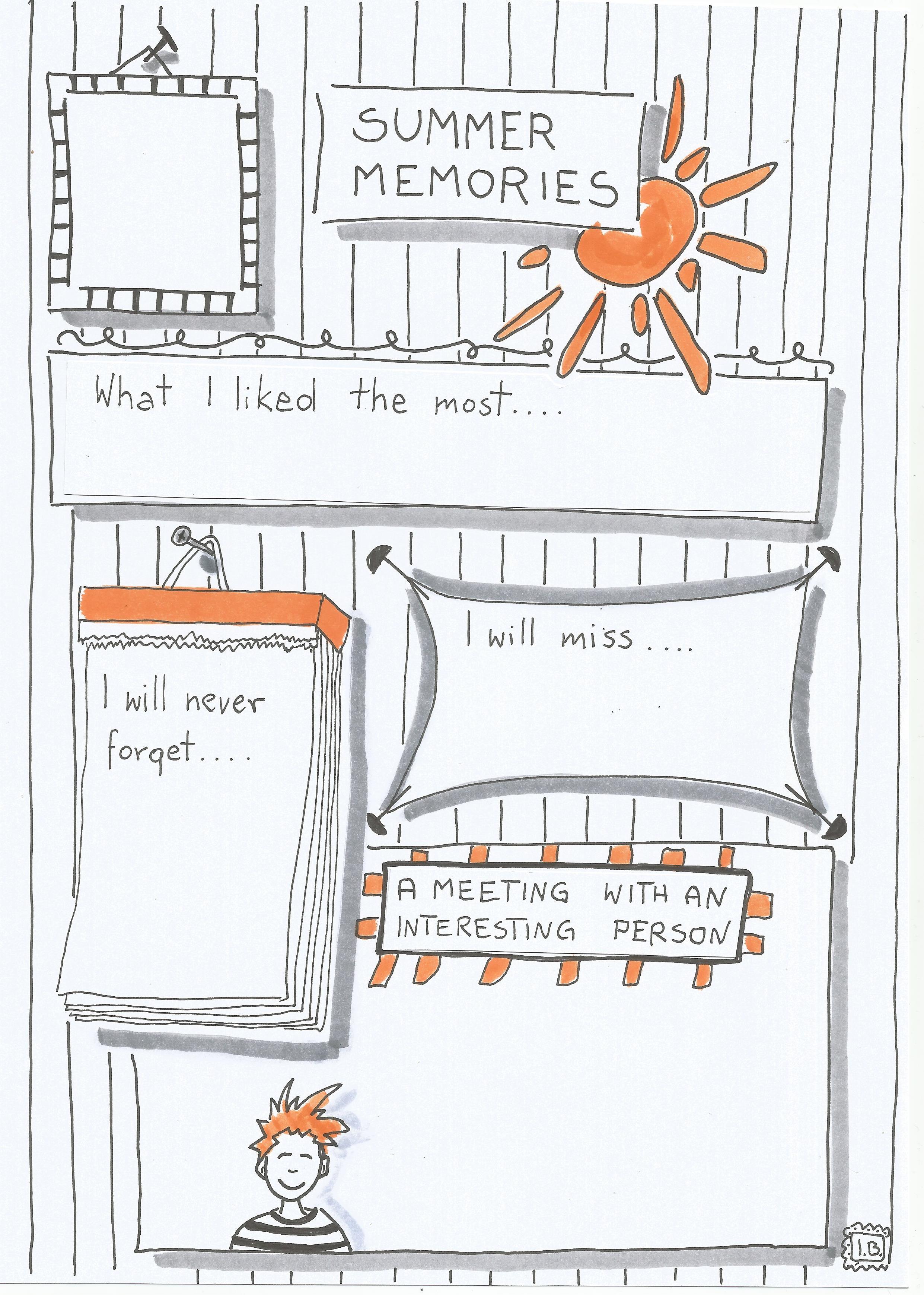 wspomnienia z wakacji po angielsku
