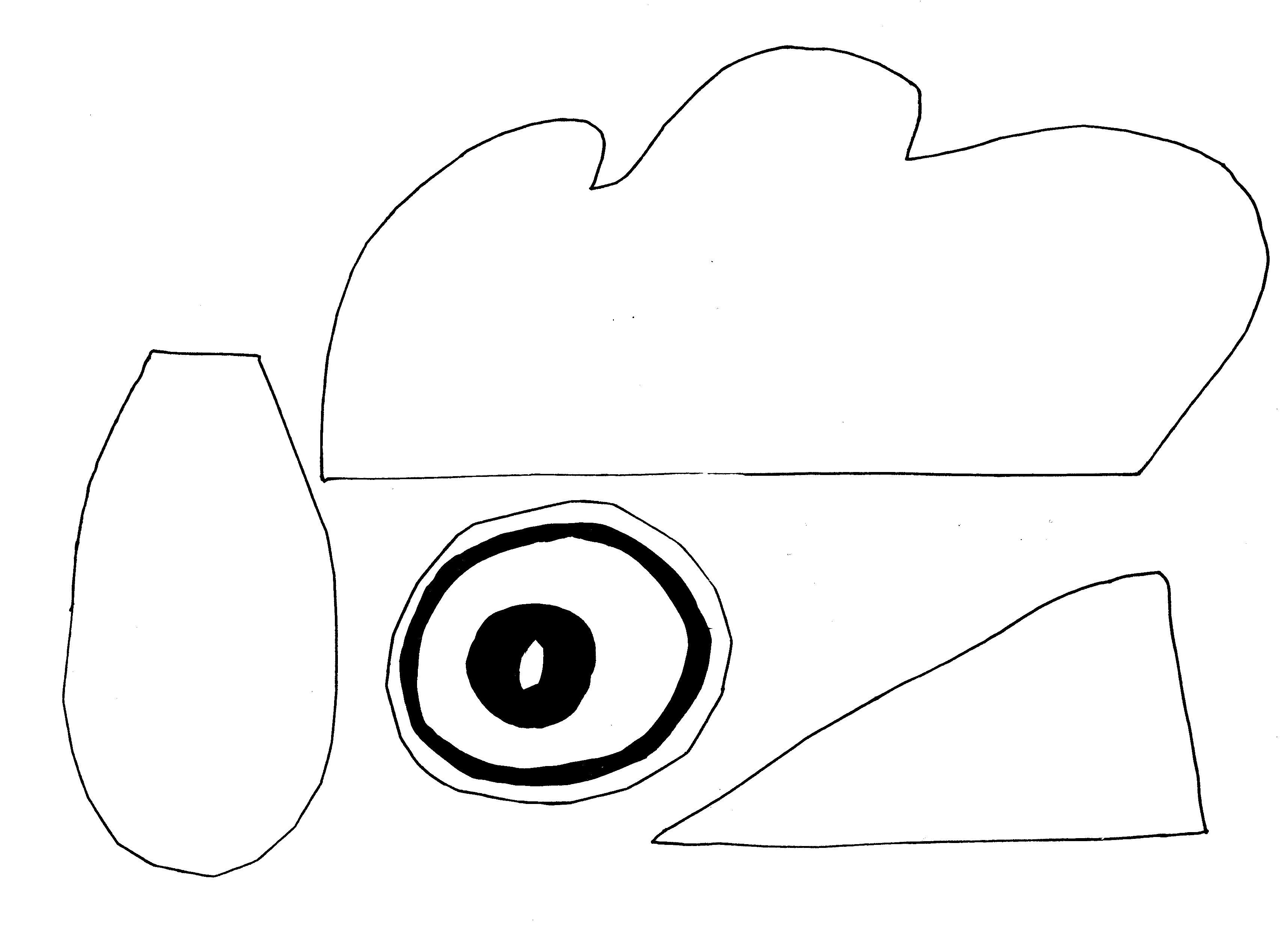 kura na głowę szablony