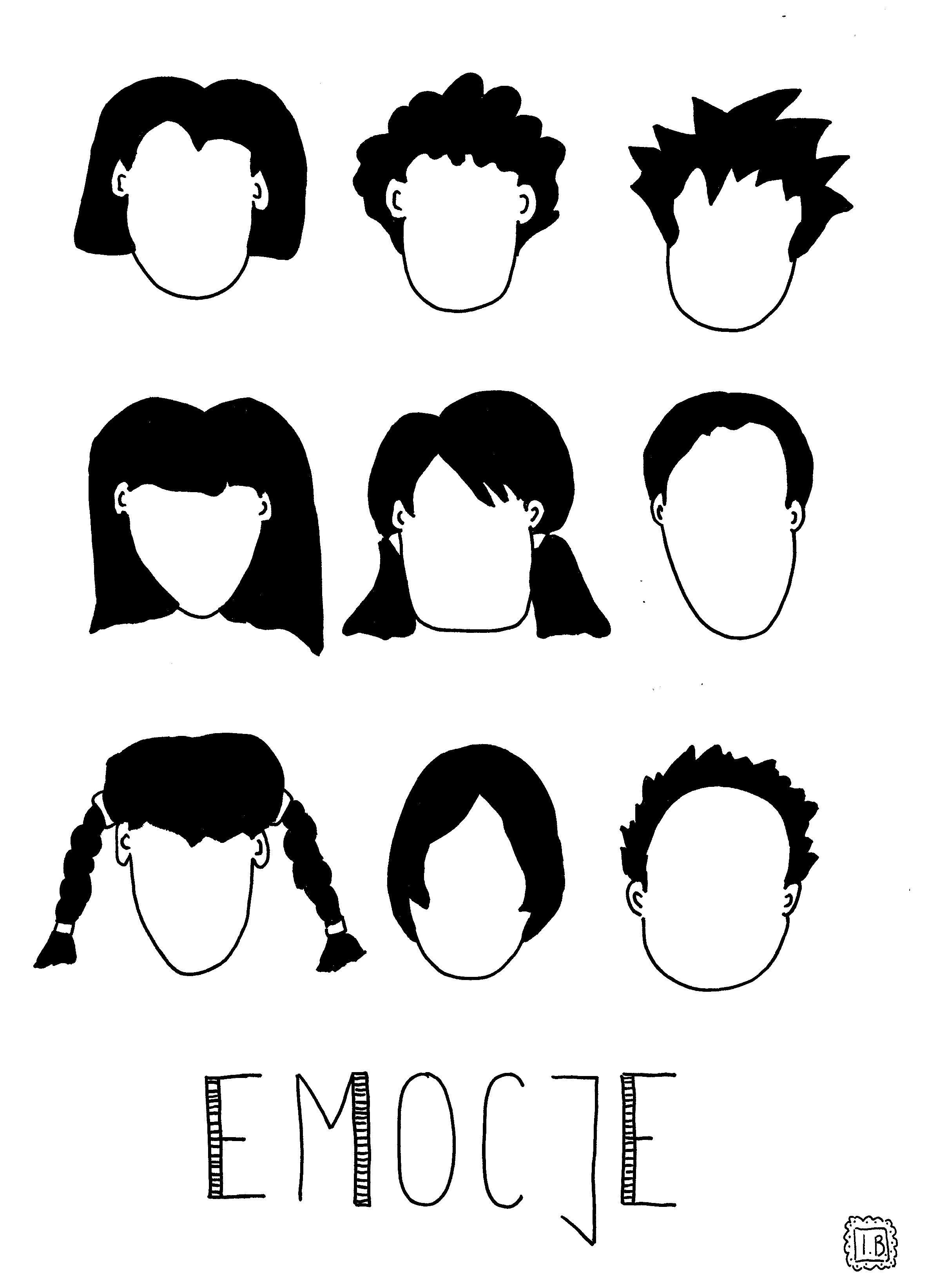 emocje twarze do rysowania